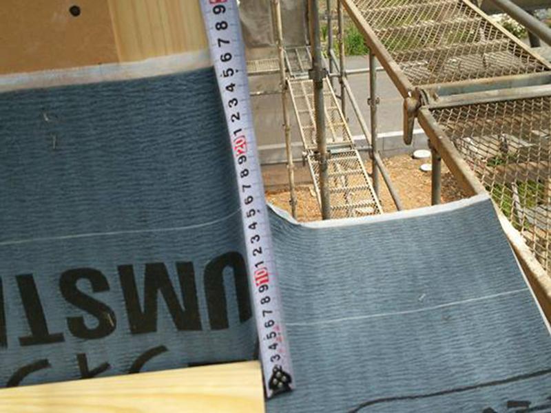 上棟した現場の屋根の防水工事の第3者チェック